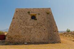 Uppehållet av kyrkoherdet i den Fortezza slotten Royaltyfri Bild