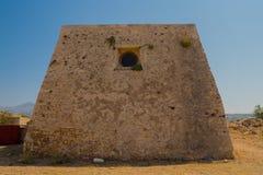 Uppehållet av kyrkoherdet i den Fortezza slotten Arkivbilder