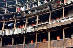 Uppehåll i jordslotten, Fujian, Kina Arkivfoton