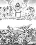 Uppenbarelse slutet av världen royaltyfri illustrationer