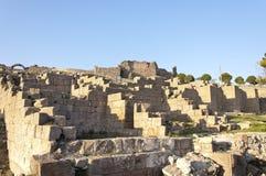 Upper Acropolis of Pergamon. The ruins of Upper Acropolis of ancient city Pergamon (Pergamum) in Turkey Stock Photo