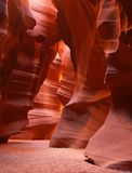 The upper Antelope Slot Canyon near Page in Arizona stock photos