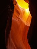 The upper Antelope Slot Canyon near Page in Arizona stock photography