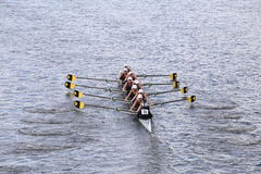 Upper Arlington races in the Head of Charles Regatta Women's Youth Eights Stock Image