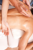 Upper back massage technique Royalty Free Stock Image
