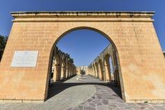 Upper Barrakka Gardens in Malta Royalty Free Stock Photo