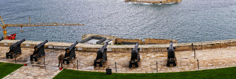 The Upper Barrakka Gardens in Valletta Malta Royalty Free Stock Photography