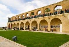Upper Barrakka Gardens in Valletta, Malta Stock Image