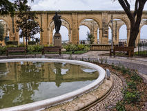 The Upper Barrakka Gardens in Valletta Malta Royalty Free Stock Images