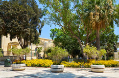 The Upper Barrakka Gardens, Valletta, Malta. View of the Upper Barrakka Gardens, Valletta, Malta Stock Images