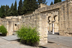 The upper basilica building of Medina Azahara ruins - Cordoba Royalty Free Stock Images