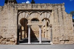 Upper Basilica building, Medina Azahara, Spain. Stock Image