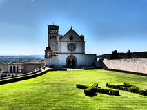 Upper Basilica of St. Francis Assisi Umbria Italy Europe Royalty Free Stock Photo
