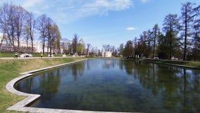 Upper bathhouse. Pushkin. Catherine Park. Tsarskoye Selo. stock video