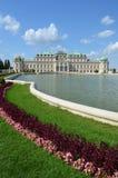 Upper Belvedere Gardens, Vienna Austria. Grand entrance to the upper Belvedere Gardens in historic Vienna Austria Royalty Free Stock Images