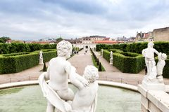 Upper Belvedere Gardens in Vienna Royalty Free Stock Image