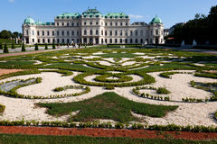 Upper Belvedere Palace Stock Photography