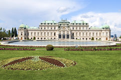 Upper Belvedere Palace Castle Vienna Austria Europe with landsca Royalty Free Stock Photos