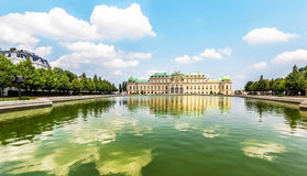 Upper Belvedere Palace  with reflection. Vienna, Austria. Stock Photo