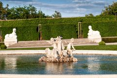 Upper Belvedere Palace in Vienna Stock Images