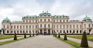 Upper Belvedere Palace in Vienna Royalty Free Stock Image