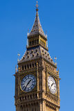 Upper Big Ben Tower London England Royalty Free Stock Photography