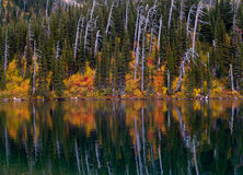 Upper Big Hawk Lake Reflection Royalty Free Stock Images