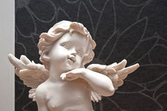 Upper body of an angel figure Royalty Free Stock Image