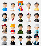 Upper body of cute and funny cartoon characters dummy icon colle Royalty Free Stock Photo