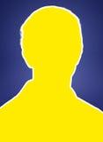 Upper body man silhouette Royalty Free Stock Photos