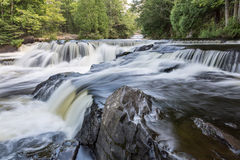 Upper Bond Falls in the Upper Peninsula of Michigan Stock Images