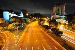 Upper Bukit Timah Road by night Stock Photos