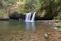 Upper Butte Falls in Oregon stock image