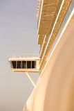 Upper captain deck on big luxury cruise in sun Stock Photos