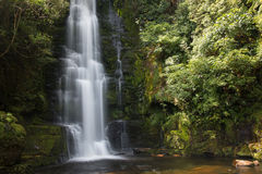 Upper cascade of McLean Falls. New Zealand royalty free stock photos
