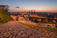 Upper castle and aerial view of Vilnius,  Lithuani Royalty Free Stock Photography