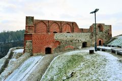 Upper castle keep on Gediminas Hill is a part of Vilnius Castle Complex Royalty Free Stock Image