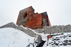 Upper castle keep on Gediminas Hill is a part of Vilnius Castle Complex Royalty Free Stock Photography