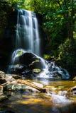 Upper Catabwa Falls near Asheville, NC stock images