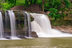 Upper Cataract Falls and Mill Ruins Royalty Free Stock Photos