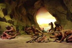 Upper cave man life scene