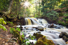 Upper Chapel Falls - Pictured Rocks National Lakeshore Stock Image