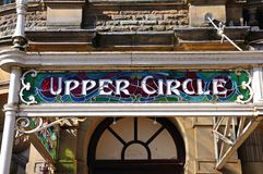 Upper Circle sign on Buxton Opera House. Stock Images