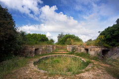 Upper Circular Battery II. An Abandoned Medieval Ruin amidst the Forest Stock Image