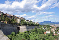 Upper city of Bergamo - Italy Royalty Free Stock Image