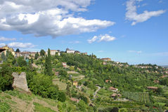 Upper city of Bergamo - Italy Stock Photos