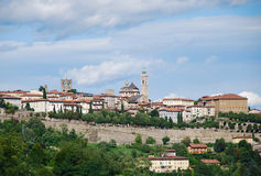 Upper city Bergamo in the summer Stock Photography