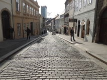 Upper city of Zagreb Royalty Free Stock Photography