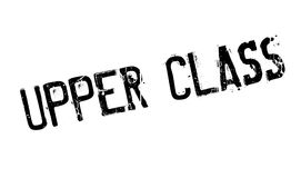 Upper Class rubber stamp. Grunge design with dust scratches. Effects can be easily removed for a clean, crisp look. Color is easily changed Stock Images