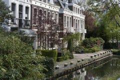 Upper class street in Rotterdam Stock Photos